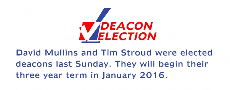 Deacon Election Results