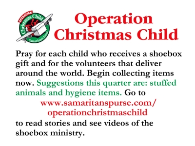 Operation Christmas Child - April 2017