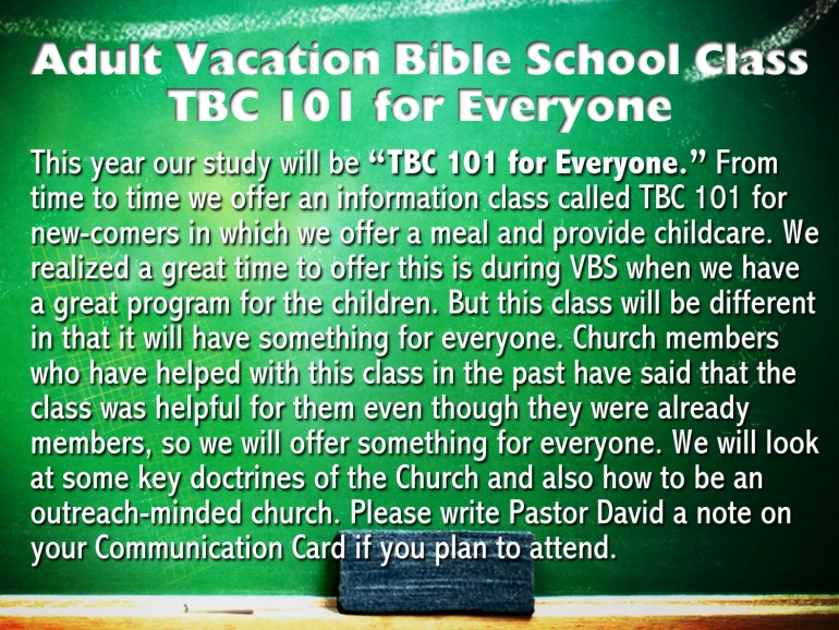 Adult VBS Class