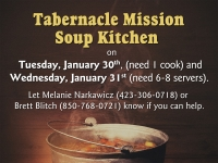 January Soup Kitchen Opportunities