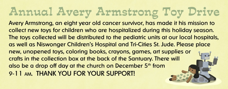 Annual Avery Armstrong Toy Drive