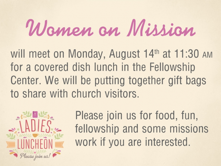 WOM August Luncheon