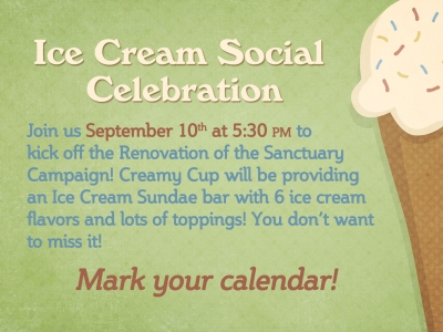 Ice Cream Social (Note: There is a Time Change)