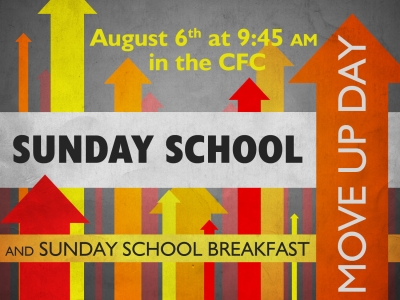 Sunday School Move Up Day