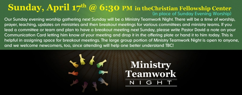 Ministry Team Night