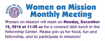 Women On Mission Meeting