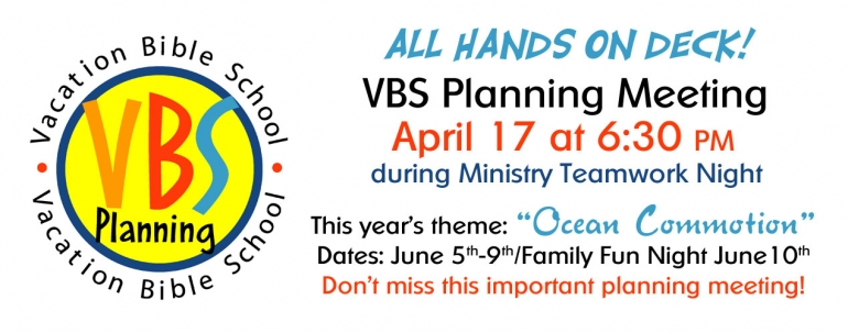 2016 VBS Planning