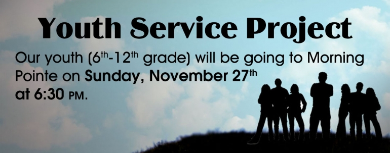 Youth Service Project - November 2016