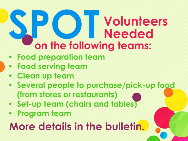 SPOT Volunteers Needed