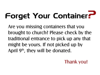 Forget Your Container?
