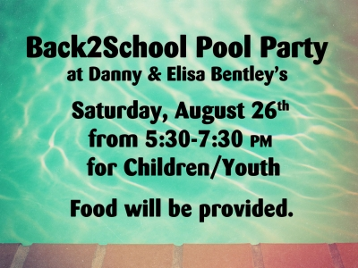 Back to School Pool Party 2017 (Canceled)