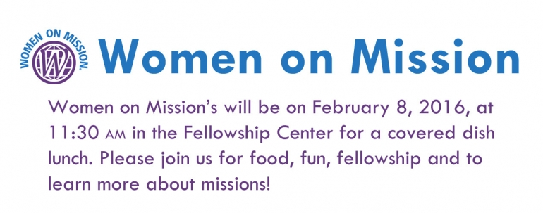Women On Mission Monthly Meeting