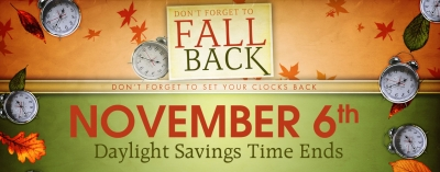 Daylight Savings Time Ends Soon