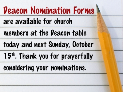 Deacon Nomination