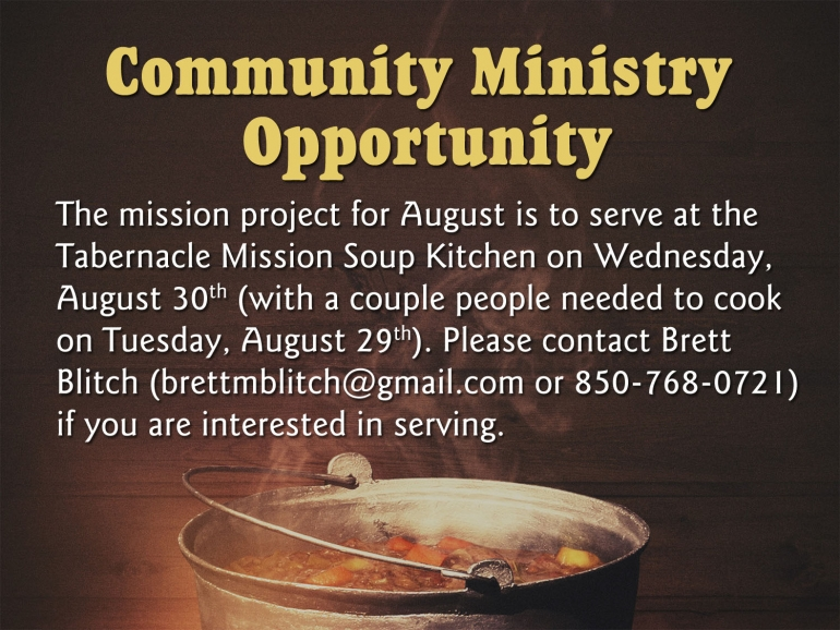Community Ministry Opportunity