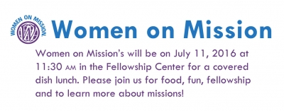 Women on Mission Meeting July 2016