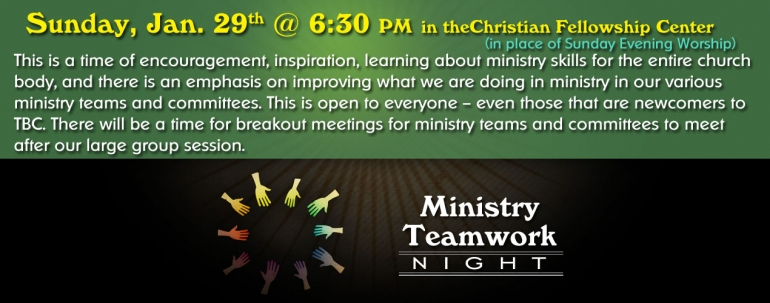 Ministry Teamwork Night