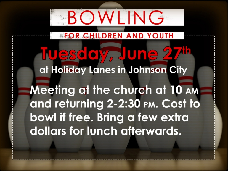 Bowling  for Children and Youth