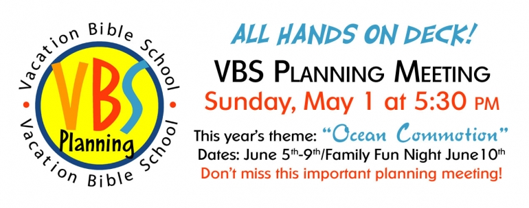 2016 VBS Planning Meeting