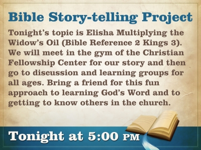 Bible Story-Telling Project - March 26