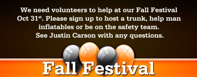Fall Festival Volunteers Needed