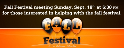 Fall Festival Meeting