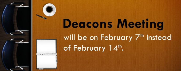 Deacon Meeting