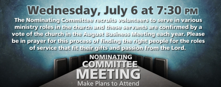 July Nominating Committee Meeting