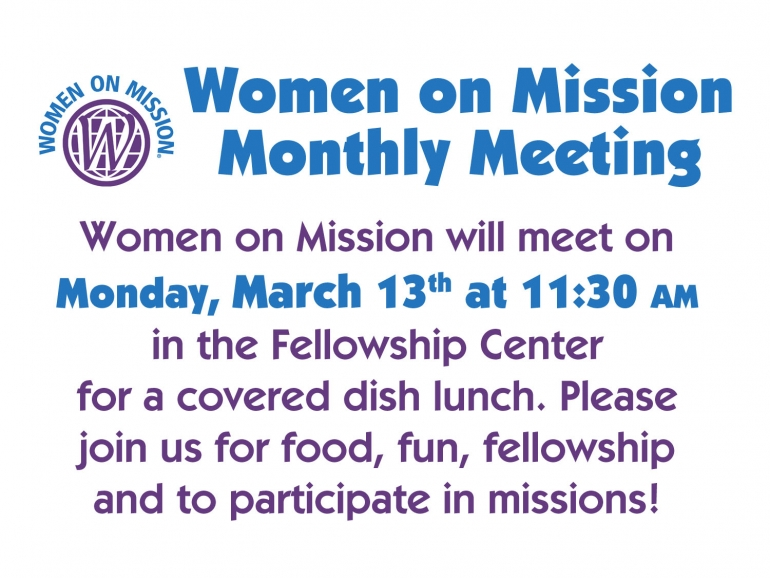 Women on Mission March 2017